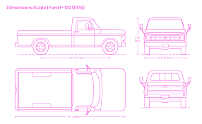 Cab To Axle Body Length Chart Ford Ford F 100 1976 Dimensions Drawings Dimensions Guide