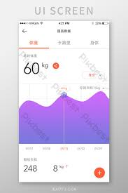 Simple Exercise Fitness App Weight Chart Chart Page Ui