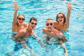 swimming pool with friends. Plain Swimming FUN In Swimming Pool With Friends A