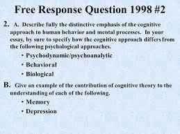 ap psychology exam response questions ppt 15