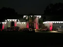 clearwater holiday lighting using the addition of colored lens covers