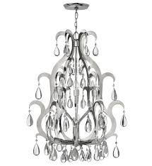 White foyer pendant lighting candle Antique Bronze Xanadu Polished Stainless Steel Chandelier By Fredrick Ramond Lampscom Lampscom Fredrick Ramond Fr43352pss Xanadu Polished Stainless