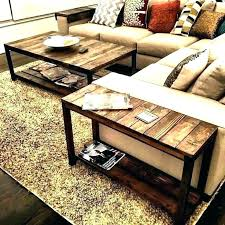 rustic coffee table decor creative end table ideas coffee table with end tables creative end tables