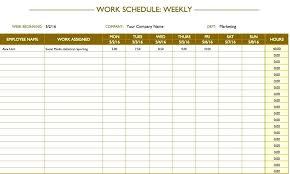 6 Week Work Schedule Template Free Printable Weekly Work Schedule Template 6 Week Work Schedule