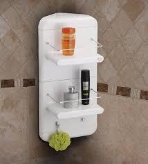 white abs plastic wall mounted bathroom shelf bathroom shelves bath fixtures bath laundry pepperfry