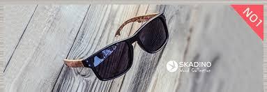 SKADINO Beech <b>Wood Men Sunglasses</b> Polarized Wooden Sun ...