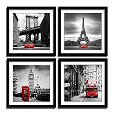 pieces framed canvas wall art