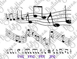 Muscial Staff Music Notes Svg Files For Cricut Sheet Musical Staff Clipart Clef Musician