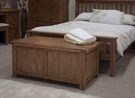 tilson solid rustic oak bedroom furniture blanket storage box chest trunk
