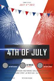 Free 4th Of July Flyer Templates Psd Fourth July Flyer Templates