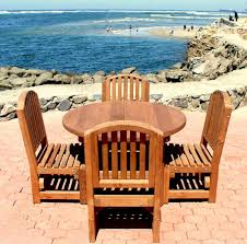 round patio table options 4 4 chairs redwood luna
