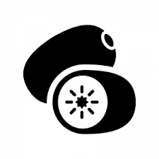 キウイフルーツのシルエット 無料のaipng白黒シルエットイラスト