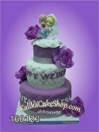 Wedding Cake Bunga Ungu Kue Ulang Tahun Bandung