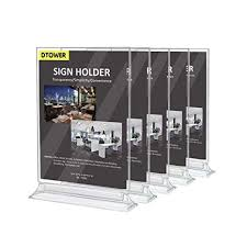 Menu Display Stands Restaurant Classy Amazon Restaurant Menu Holder Sign Holder DoubleSided Clear