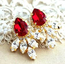 stunning ruby red chandelier earrings dazzling ruby red chandelier earrings