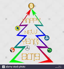 Chart On Happy New Year Tree From Cryptocurrency Growth Charts With Bitcoin And