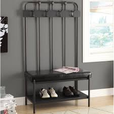 Metal Entryway Bench With Coat Rack Home Design Incredible Decor Metal Shoe Storage Bench With Coat 25