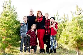 Christmas Tree Farm Family Pictures With Buffalo Plaid  Capturing Christmas Tree Farm Family Photos