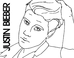 Small Picture Justin Bieber close up coloring page Coloringcrewcom