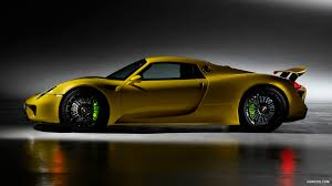 porsche 918 spyder black wallpaper. 2014 porsche 918 spyder side wallpaper black
