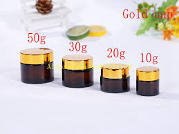 500pcs lot 10g 20g 3 0g 50g amber glass jars 50g cream jars skin care cream bottle cosmetic containers package bottles in refillable bottles from beauty