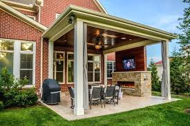 Covered patio with fire pit Luxury Interior Covered Patios Designs Outdoor Awesome Sizable Living Space With Patio And Swing Wagon Facts Ideas Unusually Perfect Patio Cover Tranquillaneco Covered Patio Addition Designs With Fire Pit Ideas Tranquillaneco
