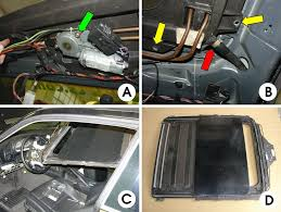 bmw e series sunroof removal and repair  figure