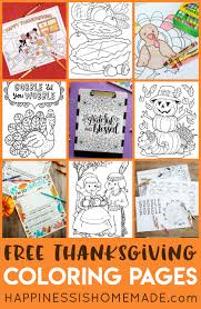Print and color your favorite coloring. Free Thanksgiving Coloring Pages For Adults Kids Happiness Is Homemade