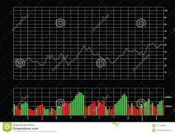 Stock Chart With Volume Bars Stock Vector Illustration Of