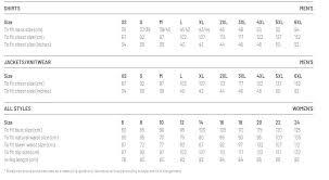 Bisley Size Chart Bisley