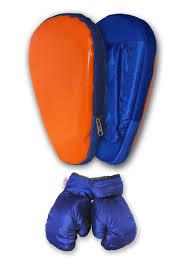 <b>Набор для бокса</b> (лапа боксерская с перчатками) оранжево ...
