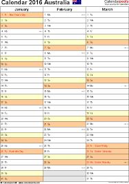 microsoft excel calendar australia calendar 2016 free printable excel templates