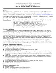 Residential Counselor Job Description Resume Residential Counselor Resume Resume Cover Letter 1