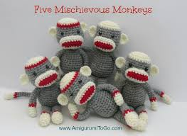 Sock Monkey Pattern Amazing Crochet Along Amigurumi Sock Monkey Amigurumi To Go