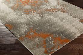 plushrugs imports compound 2205 xaj light gray olive burnt orange rug