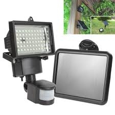 diy hot solar panel led flood security garden light pir powered outdoor lights motion sensor leds path wall best reviews with siren detection 100