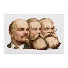 Холст 60x90 Маркс, Энгельс, Ленин #390145 от Mourad Mokrane