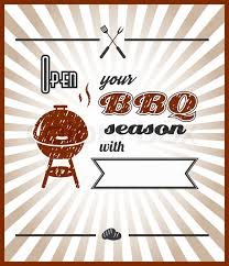 Bbq Poster Vector Open Your Bbq Season With Stock Vector Colourbox