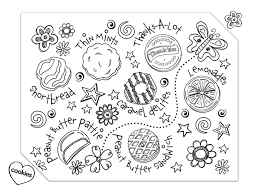Coloring Pages For Girl Scouts Girl Scout Cookies Coloring Pages
