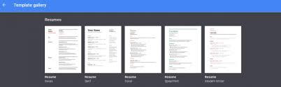 Google Drive Resume Template Commily Com