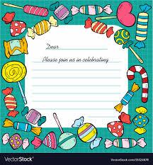 B Day Invitation Cards Hand Drawn Birthday Invitation Card Template
