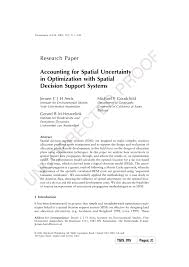 Designing Accounting Support System Pdf Accounting For Spatial Uncertainty In Optimization With
