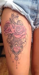 Women S Thigh Tattoos Designs 30 Womens Badass Hip Thigh Tattoo Ideas Mybodiart