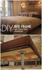 diy bed frames diy bed frame with giant headboard how to make a headboard