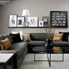 long shelf above sofa for easy rearrangement of art and