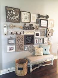 DIY Farmhouse Style Decor Ideas   Entryway Gallery Wall   Rustic Ideas For  Furniture, Paint Colors, Farm House Decoration For Living Room, Kitchen And  Bed.