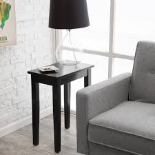 Narrow Side Tables For Bedroom Night Tables For Bedroom And White Polished Wooden Stand Small