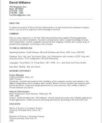 Linux System Administrator Resume Sample Pdf It Systems Basic