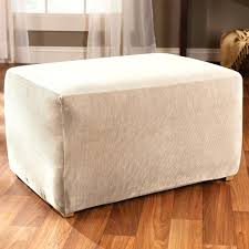 sure fit ottoman slipcover size oversized cover chair and covers also storage with tray large round
