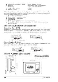 Inserting Removing Procedure Chart Plotter Dimensions